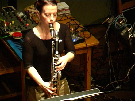 Laura Carmichael, bass clarinet