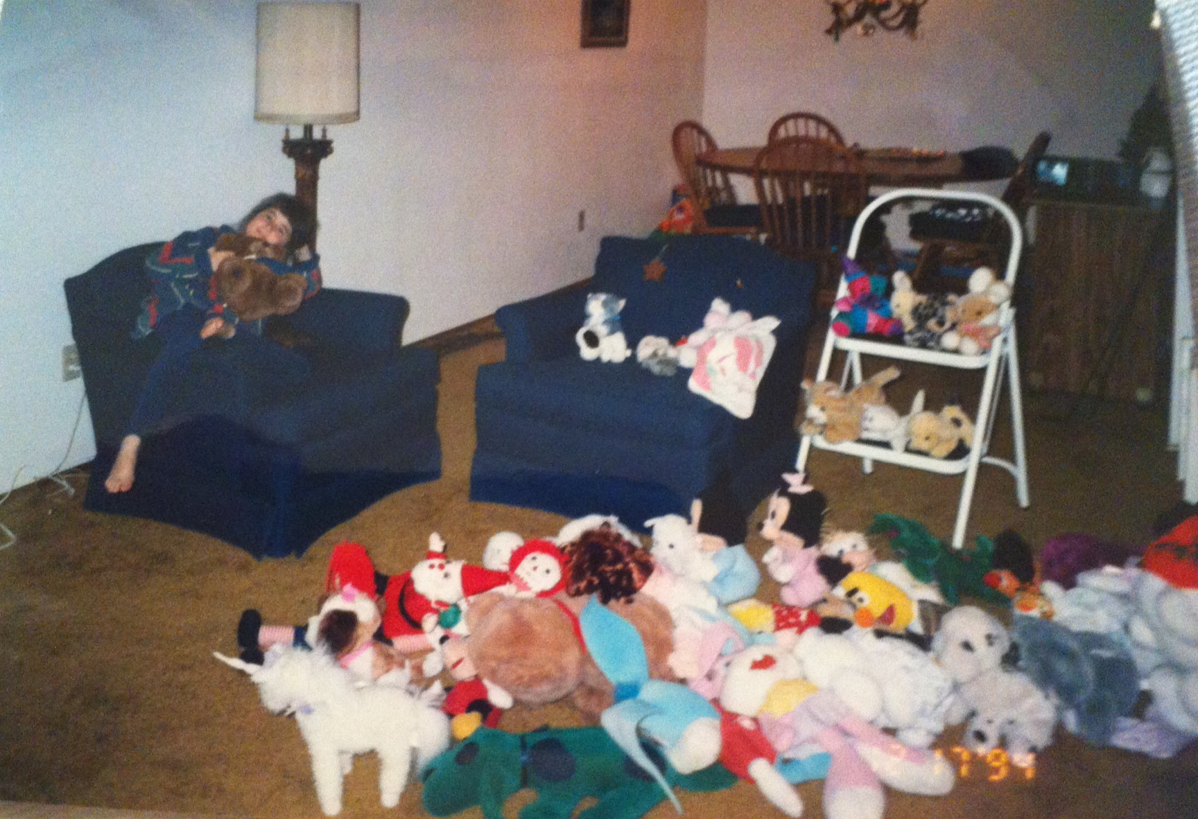 A young Molly with her menagerie!