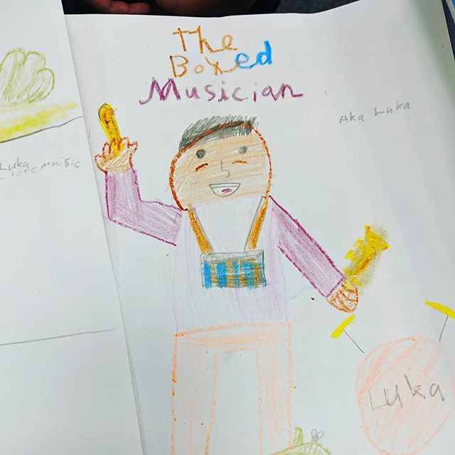 We love seeing the original characters kids come up with for their own Cardboard Kingdoms! This incredible reader shared her character Luka the Boxed Musician with us and is even working on her own comic where he meets the characters from our book! Who would YOU be in the Cardboard Kingdom?? ✨📦🏰