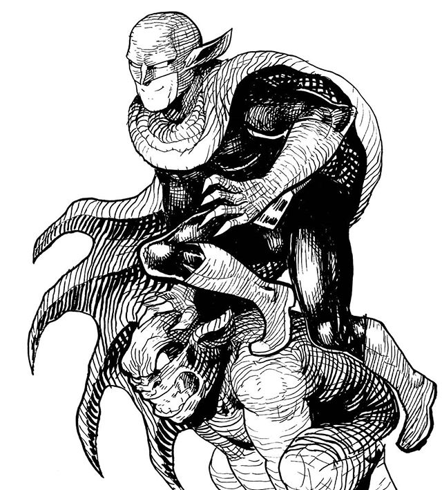 A drawing from CK illustrator @chadsell01 of the heroic GARGOYLE!