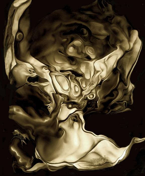 El Impostor   Impresion digital de una pintura hecha sobre vidrio