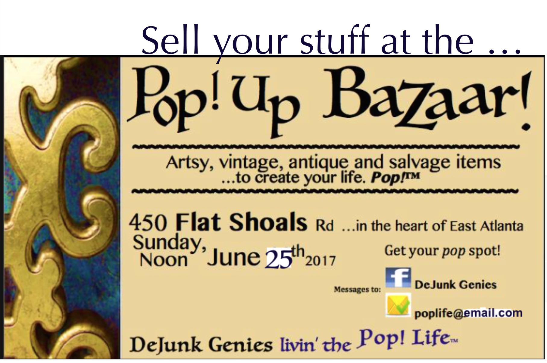 Pop up Bazaar East Atlanta June 2017