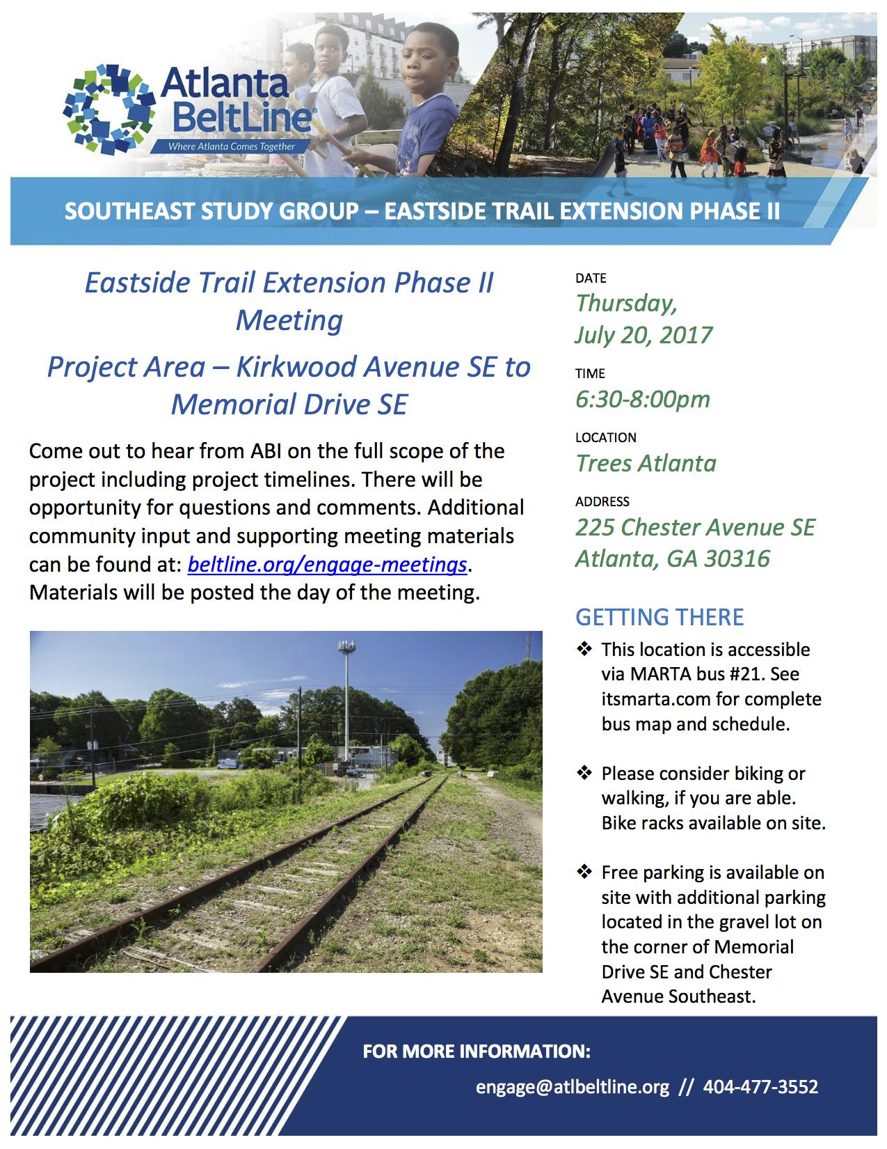 Atlanta Beltline Southeast Study Group 7/20/2017