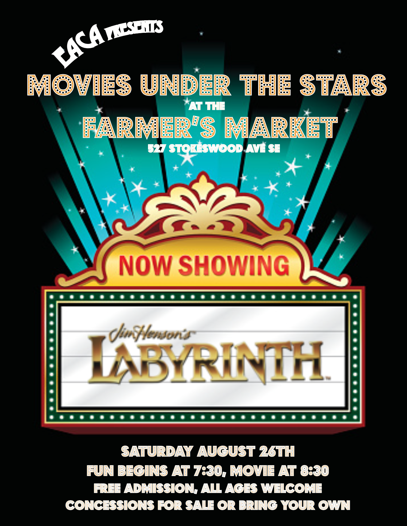 EACA Presents: Movies under the stars!