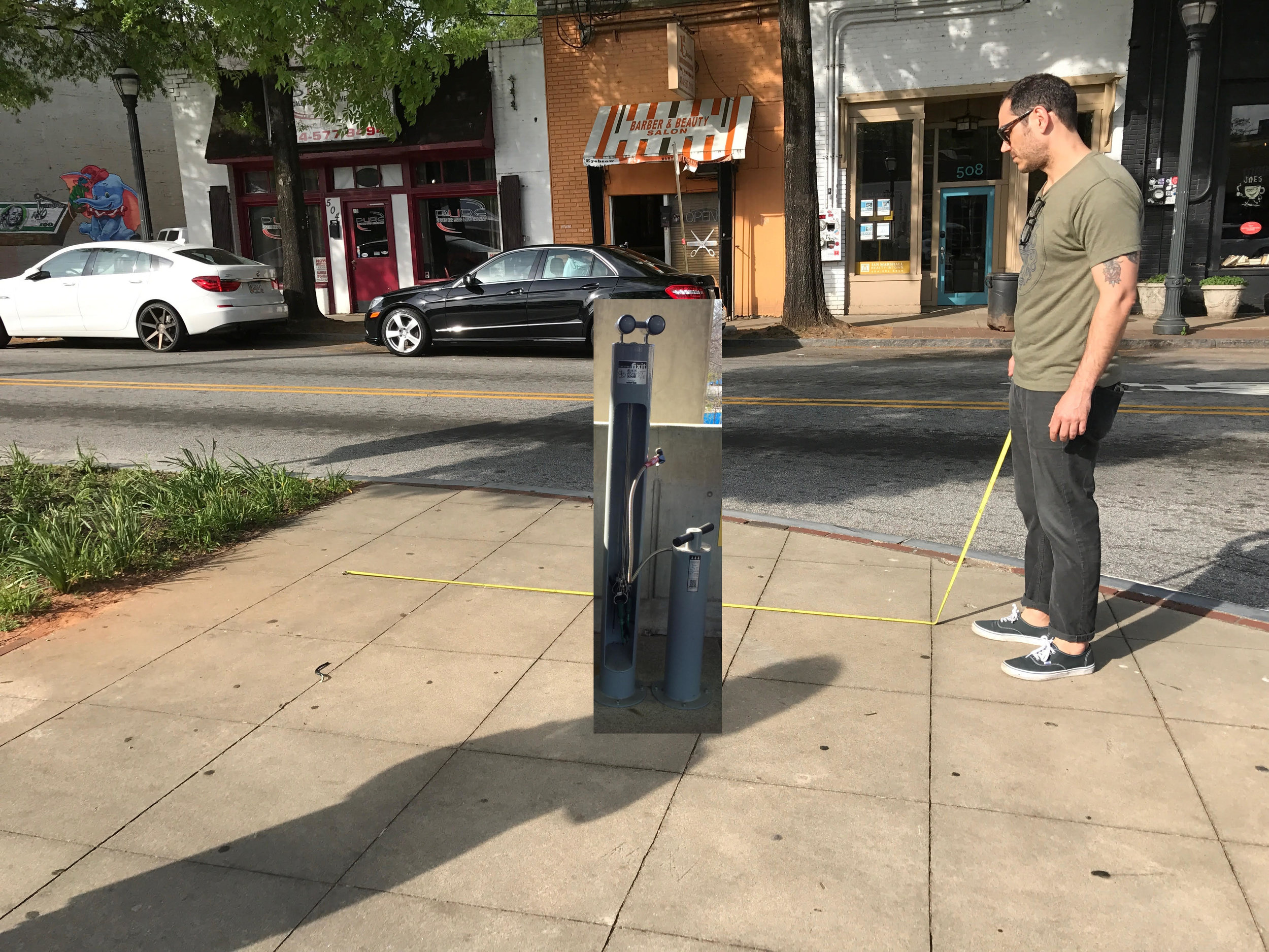 The bike repair station would be located at the corner of Glenwood and Flat Shoals