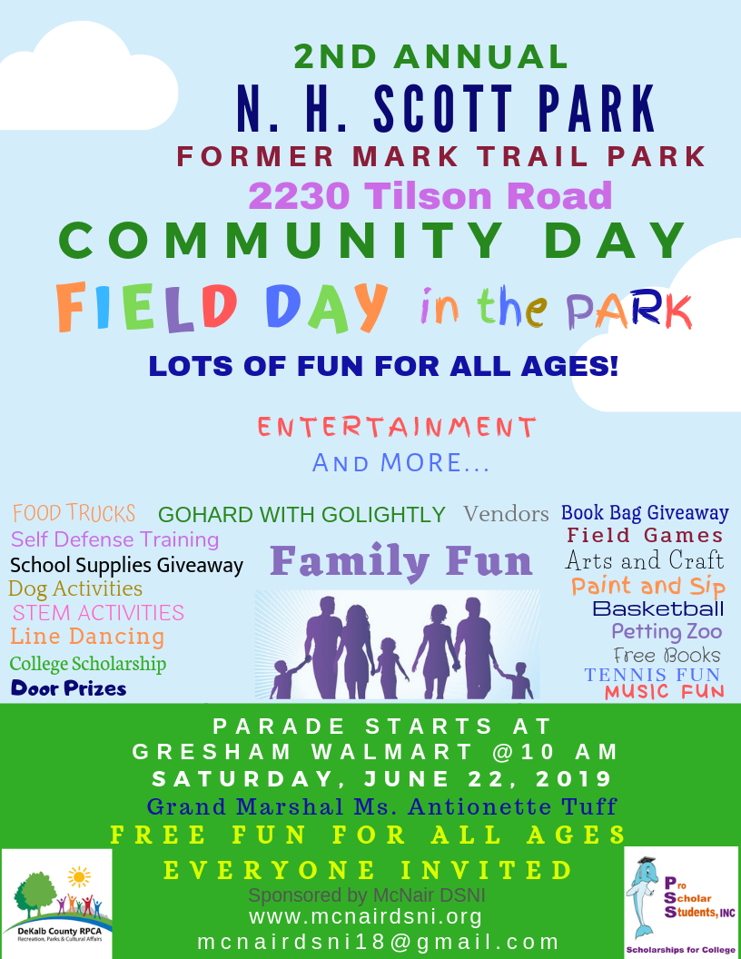 NH SCOTT PARK COMMUNITY DAY ACT FLYER 2019.png