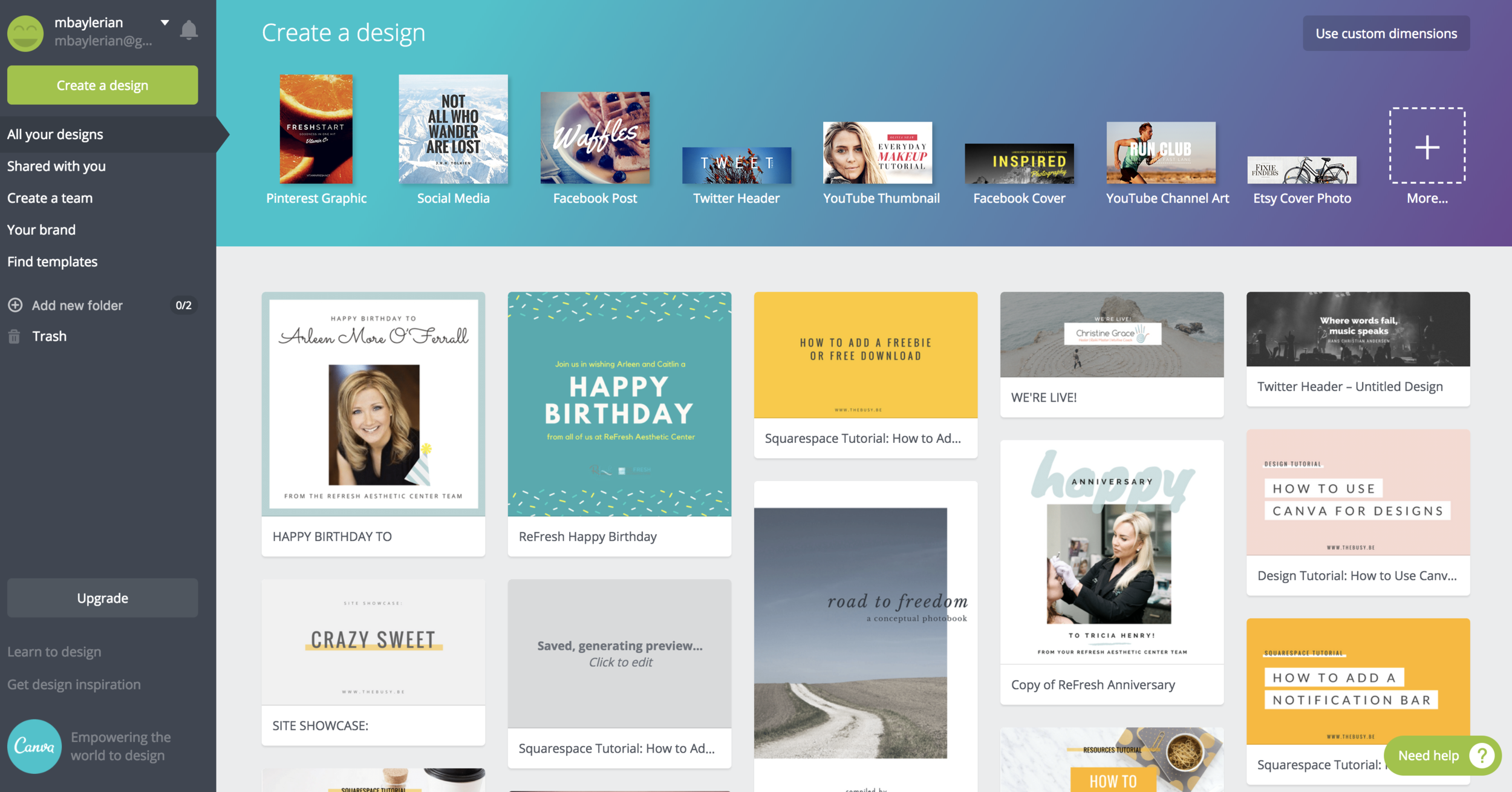 The Busy Bee How To Use Canva To Create Designs For Your Business Free Tutorial