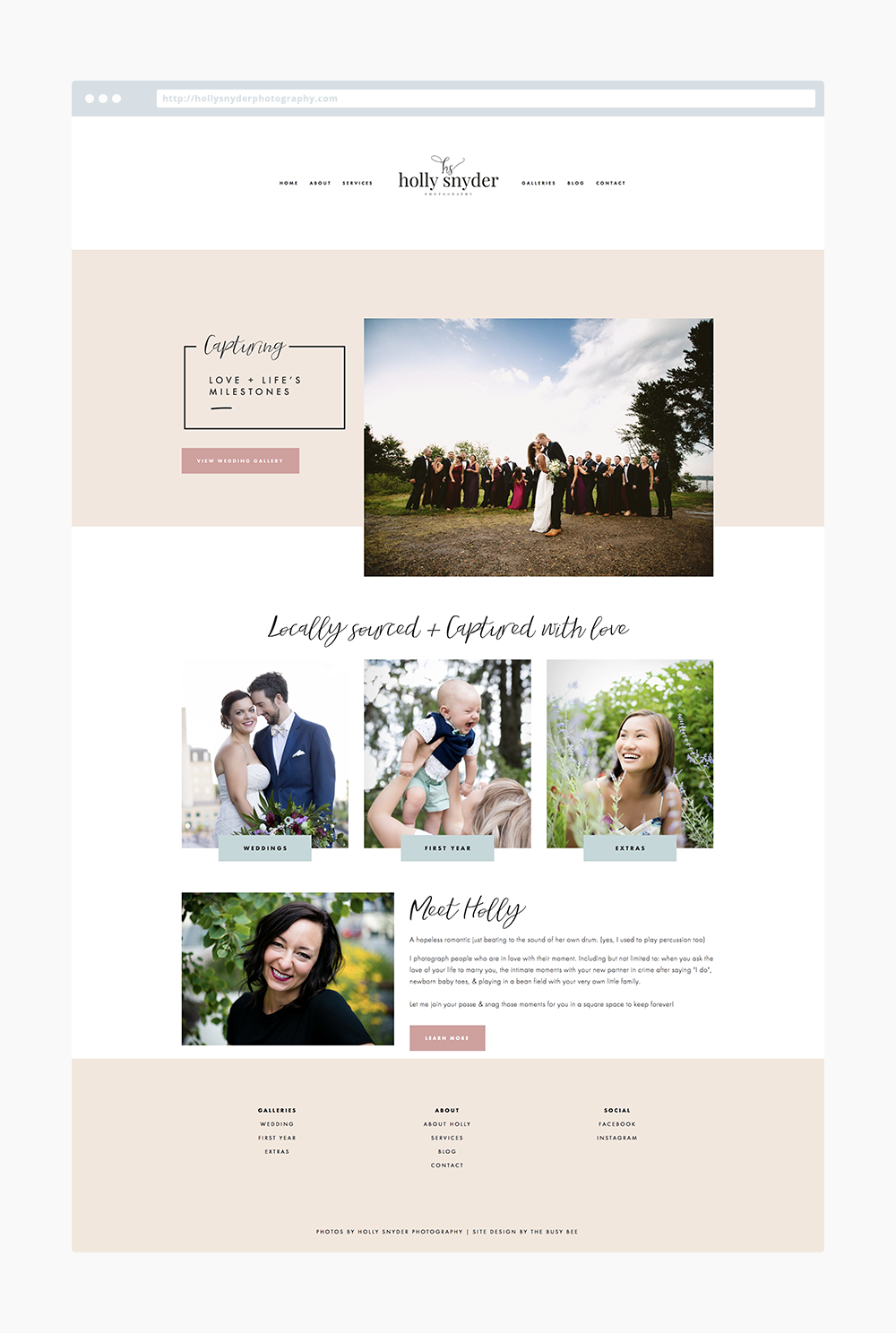 The Busy Bee Megan Baylerian Squarespace Website Holly Snyder Photography
