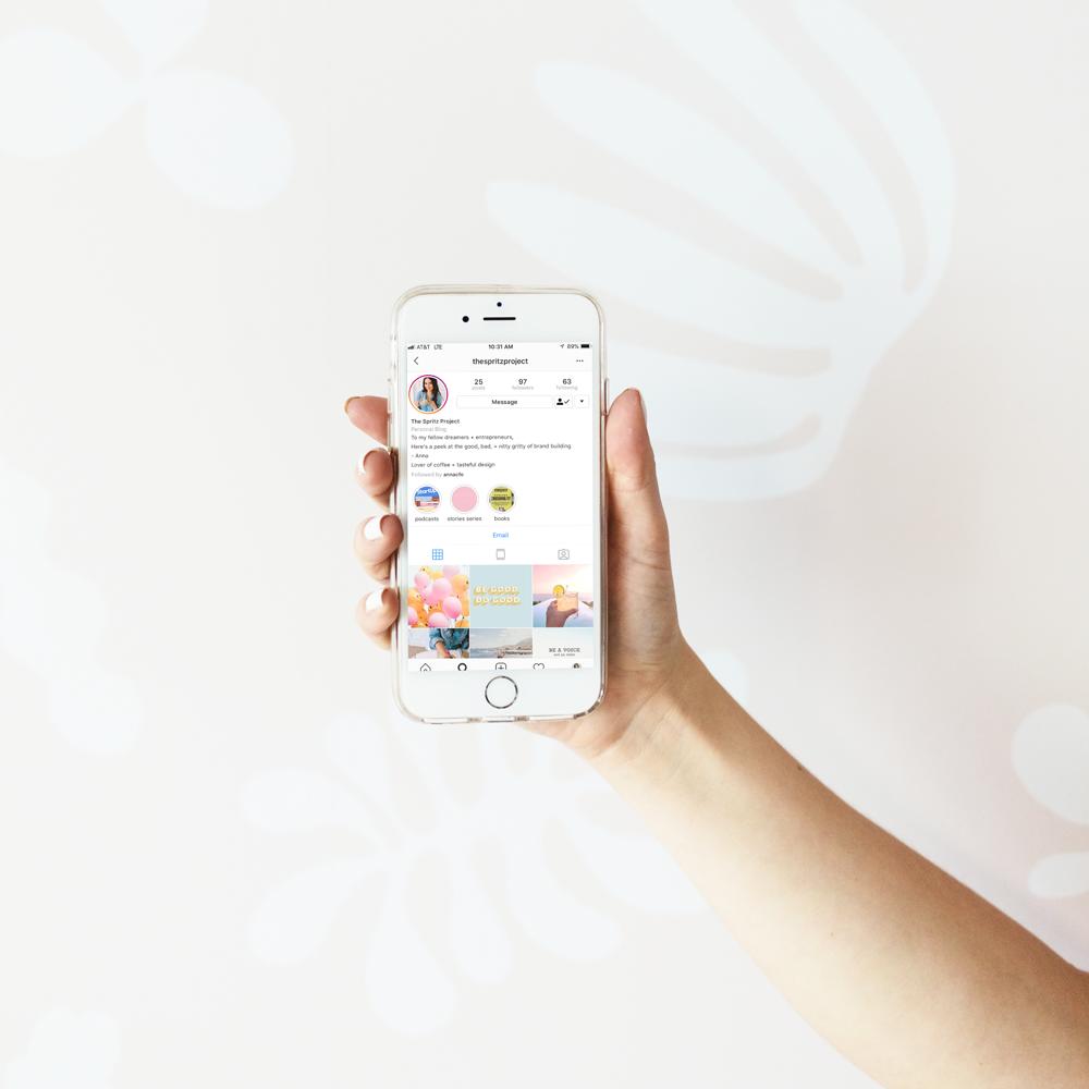 The Busy Bee Portfolio Custom Squarespace Website The Spritz Project Instagram Mobile