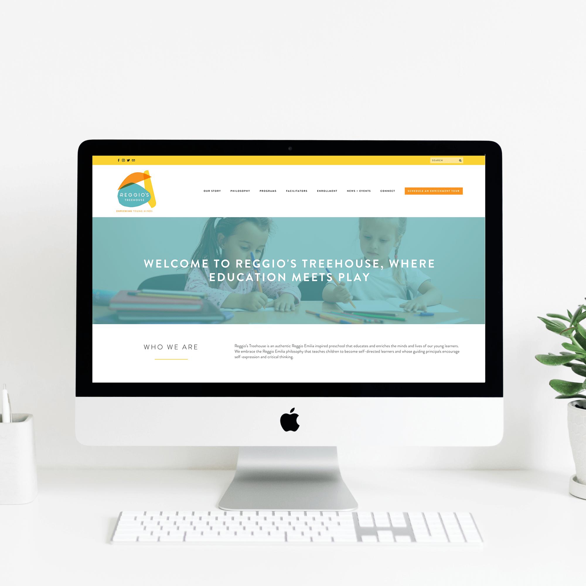 The Busy Bee Portfolio Custom Squarespace Website Reggio's Treehouse Desktop