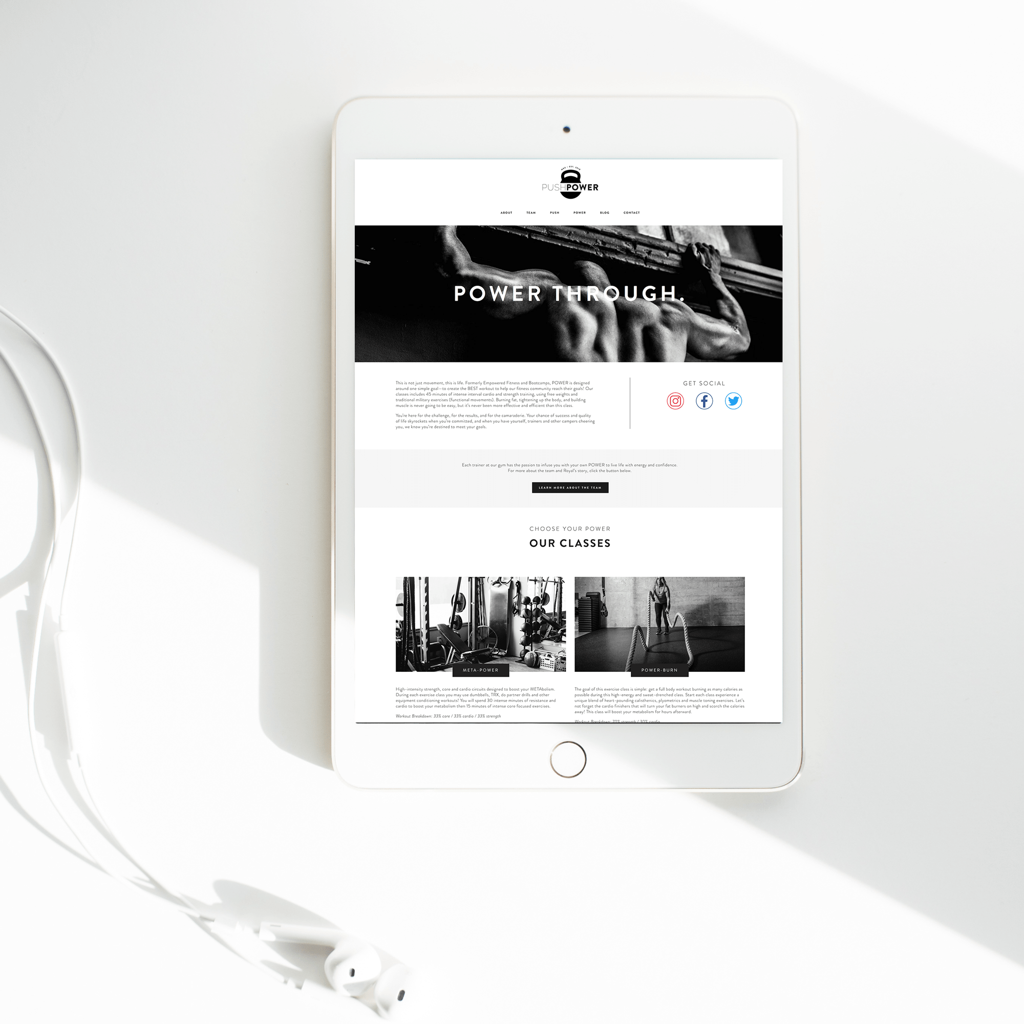 The Busy Bee Portfolio Custom Squarespace Website Push Power MKE Tablet