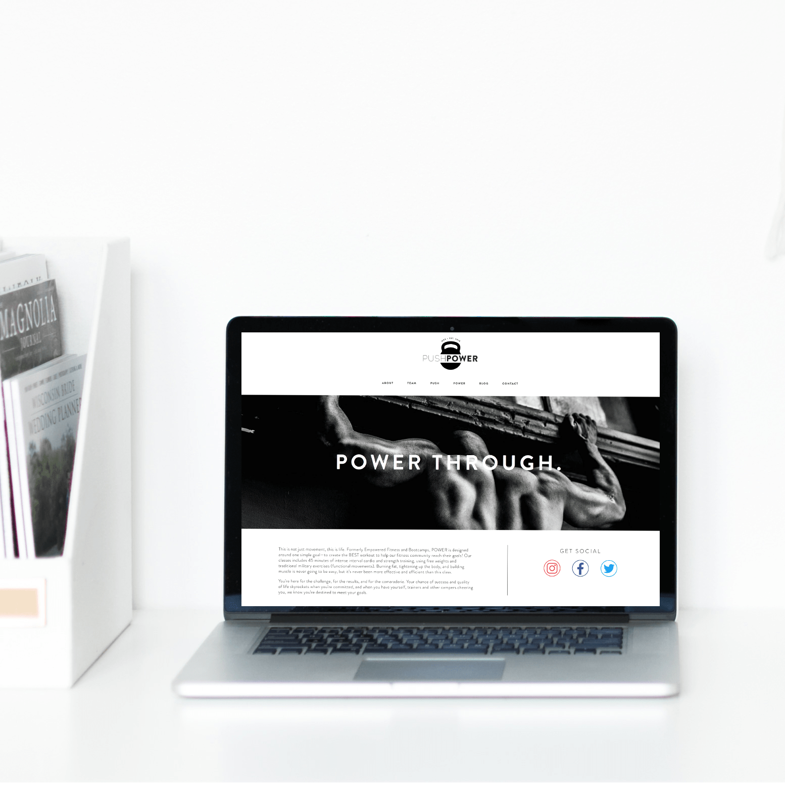 The Busy Bee Portfolio Custom Squarespace Website Push Power MKE Laptop