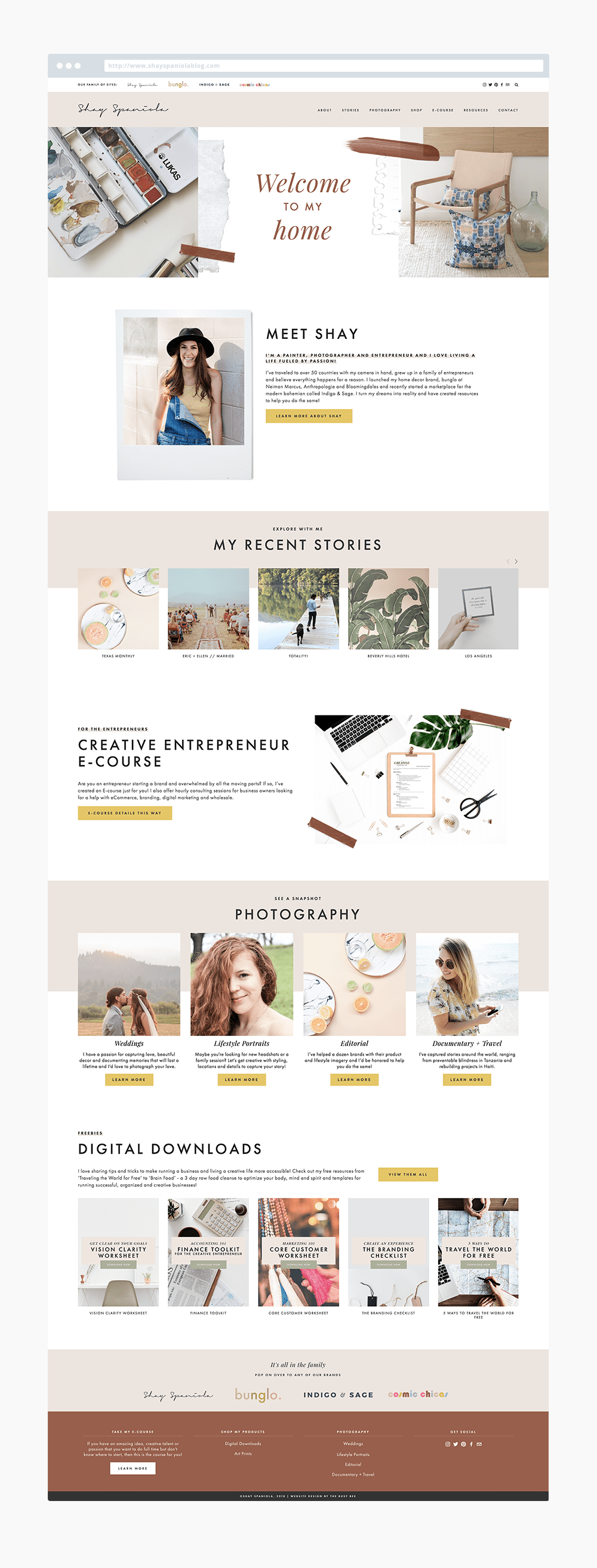 The Busy Bee Megan Baylerian Squarespace Website Shay Spaniola