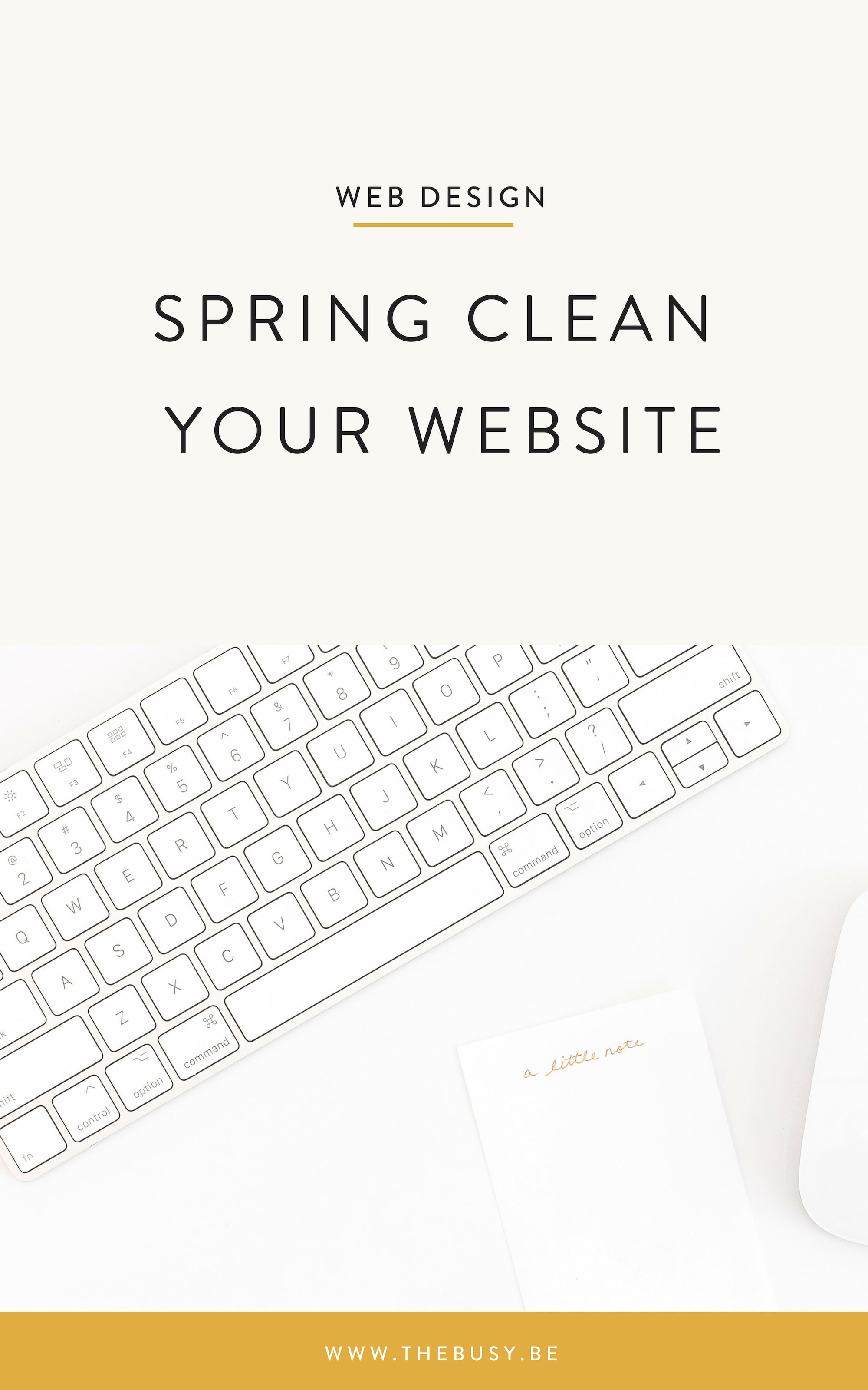 Spring Clean Your Website -The Busy Bee
