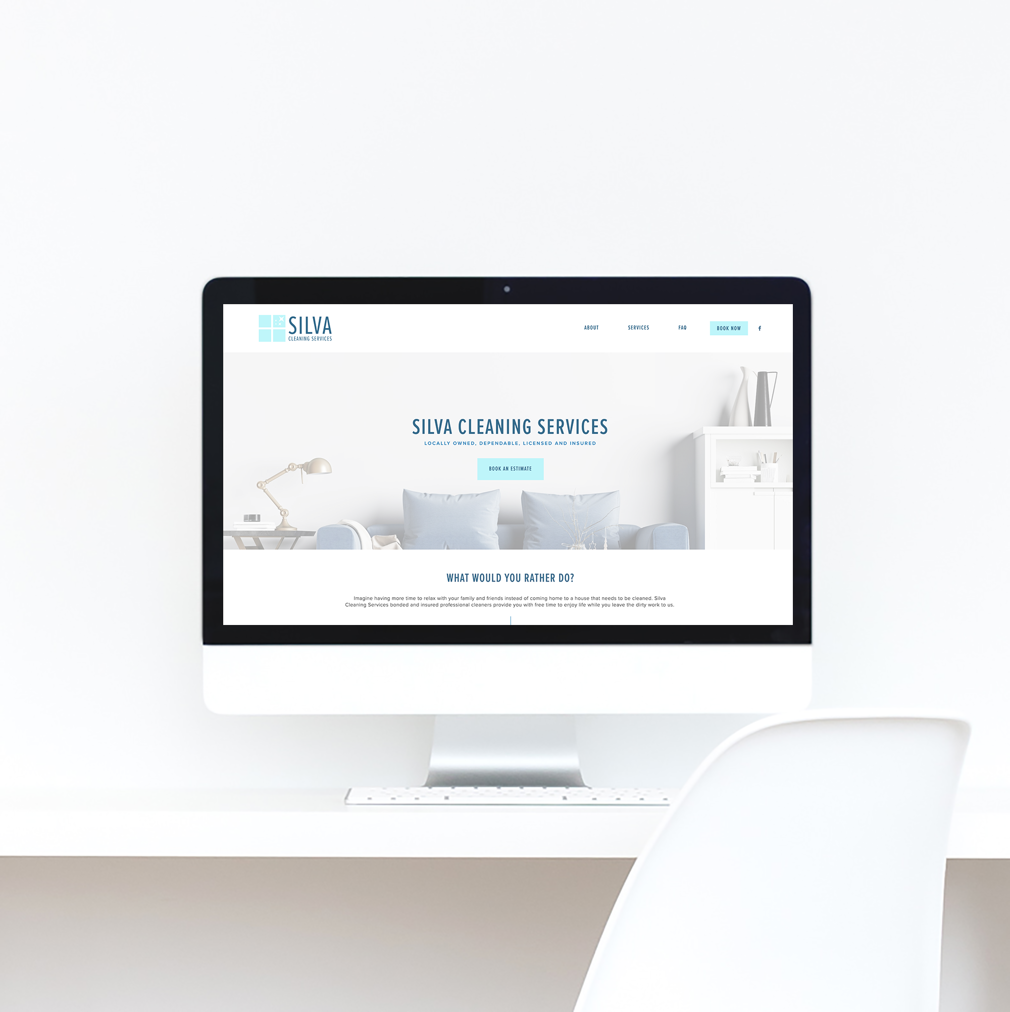 The Busy Bee Portfolio Custom Squarespace Website Silva Cleaning Services Desktop