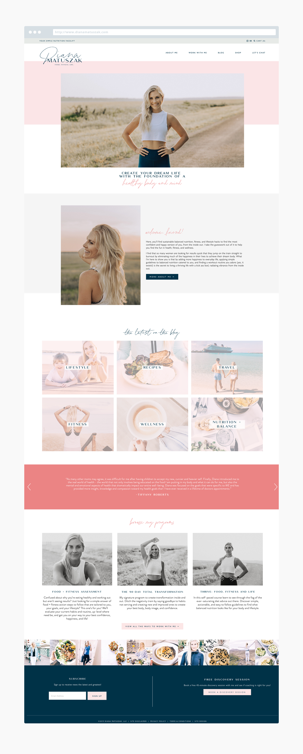 The Busy Bee Portfolio Custom Squarespace Website Diana Matuszak Homepage