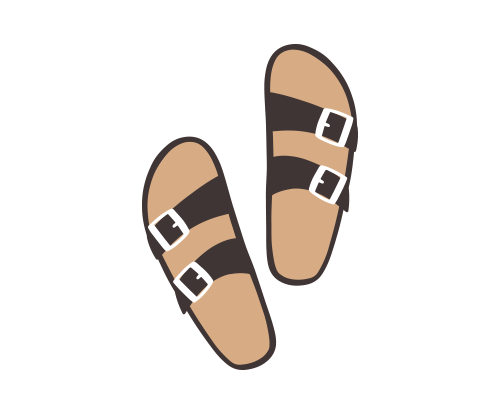 I live in birkenstocks in the summer -