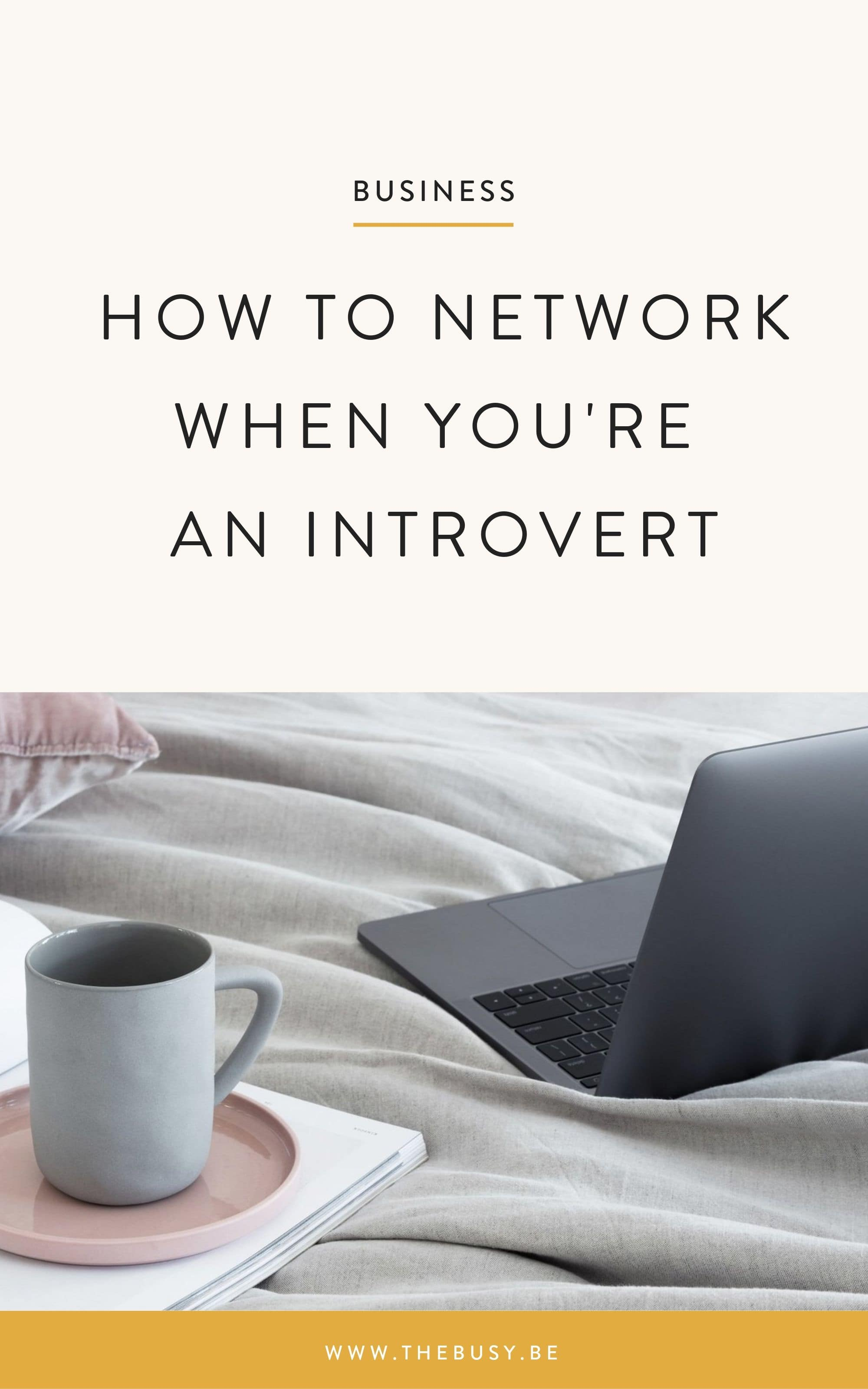 How to Network When You're an Introvert - The Busy Bee