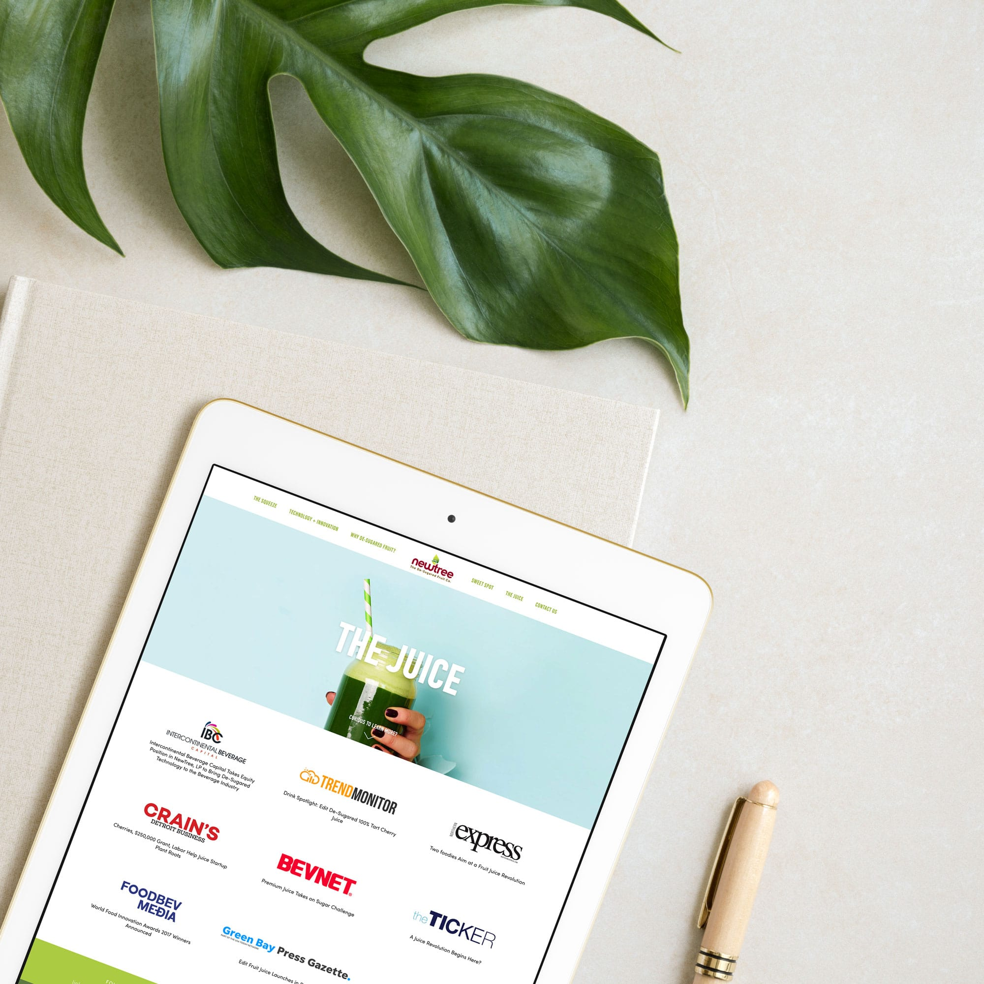 The Busy Bee Megan Baylerian Squarespace Website NewTree Fruit Company iPad
