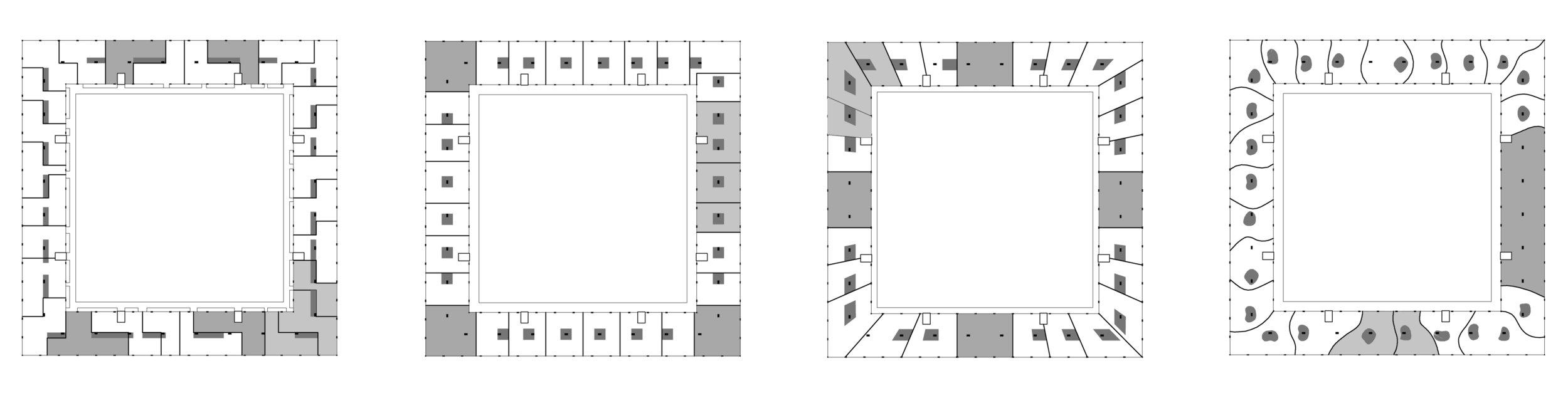 Tipologies Diagram for De Sluishuis :: de Cie., Amsterdam