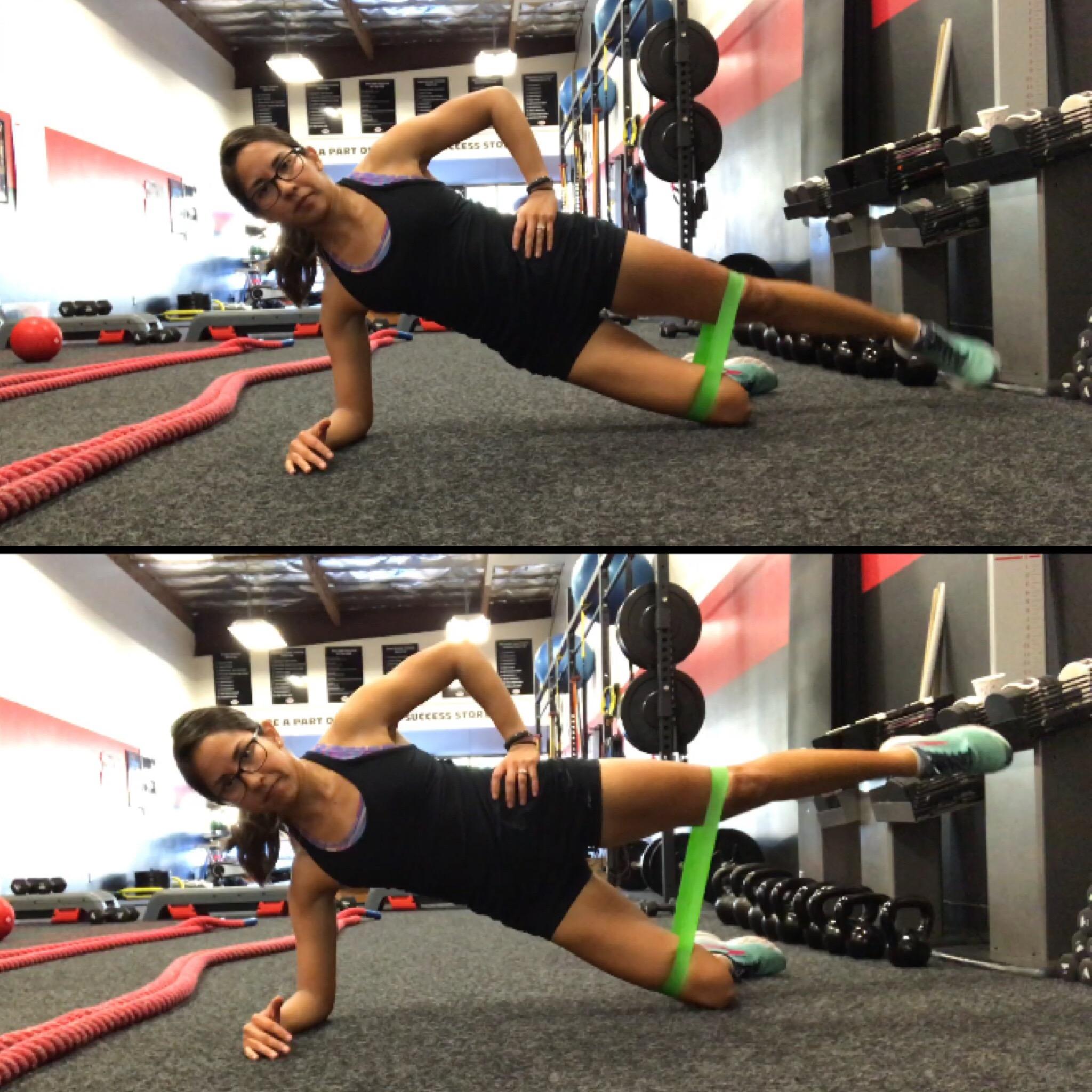Modified Side Plank Leg Lift