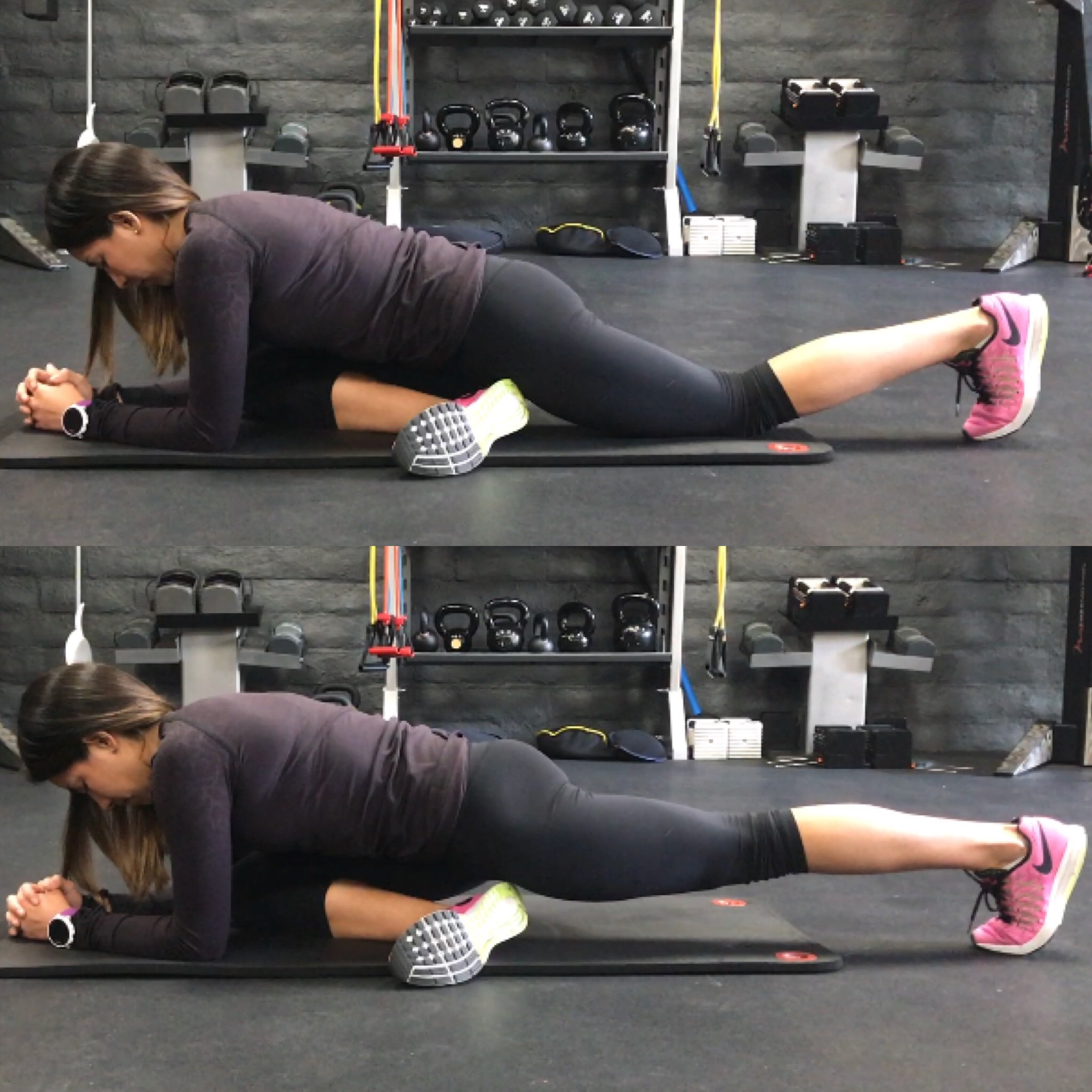 Pigeon Pose Glute Squeeze