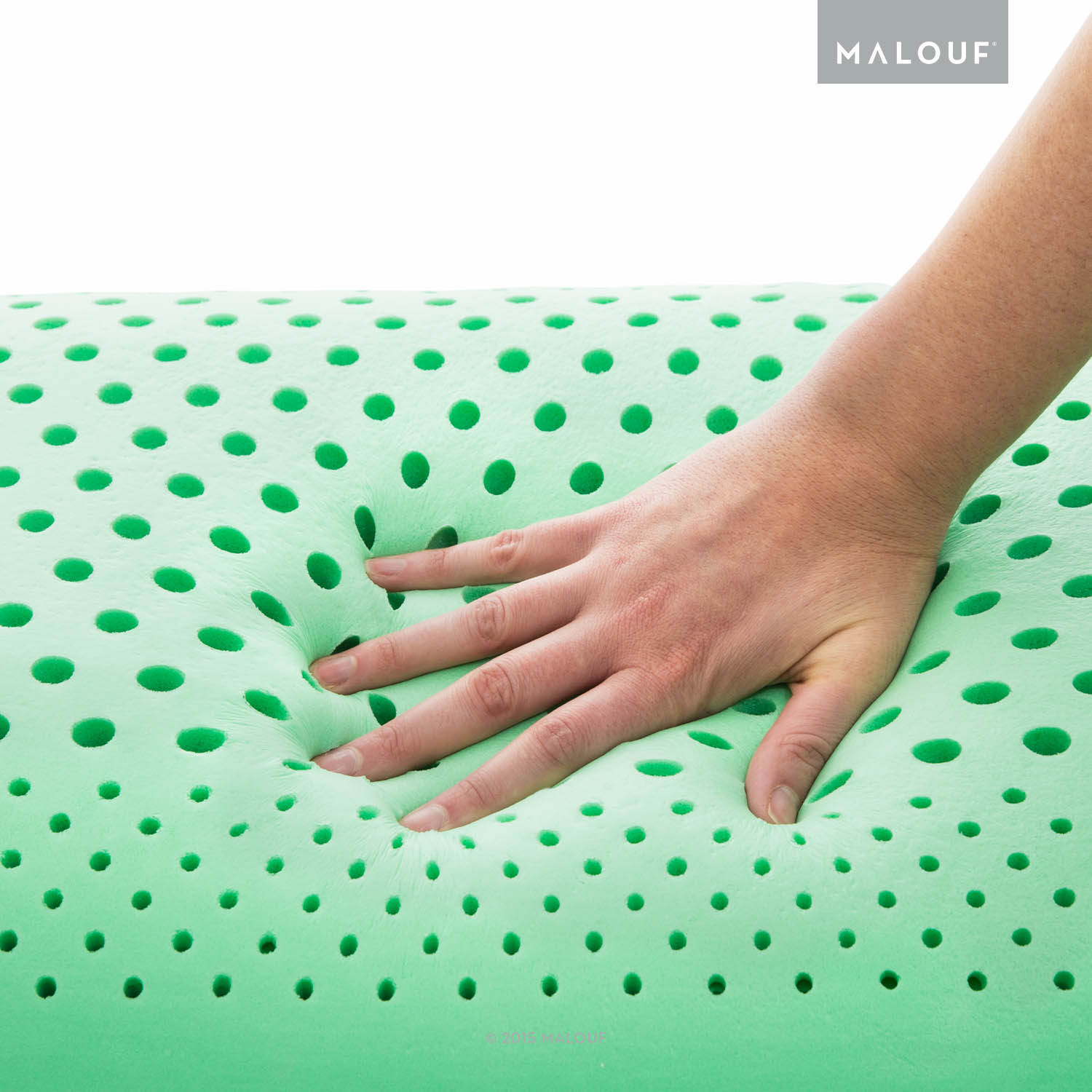 Zone Pillows: Notice a firmer outer portion of the pillow and a soft interior