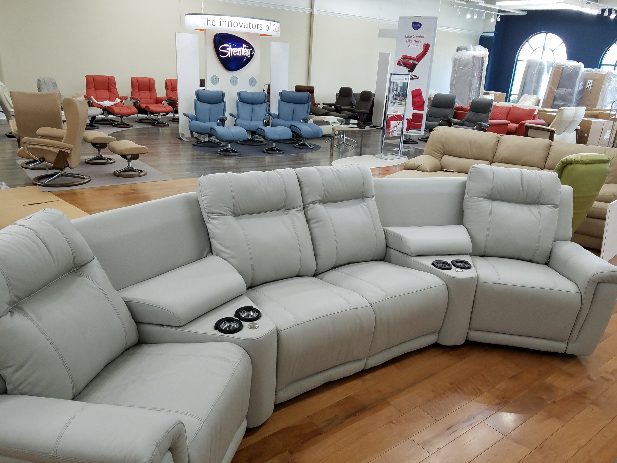 Palliser Theater Style Sectional - More Fit for Home