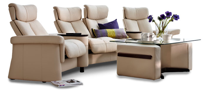 Stressless Legend -Home Theater Style Sectional