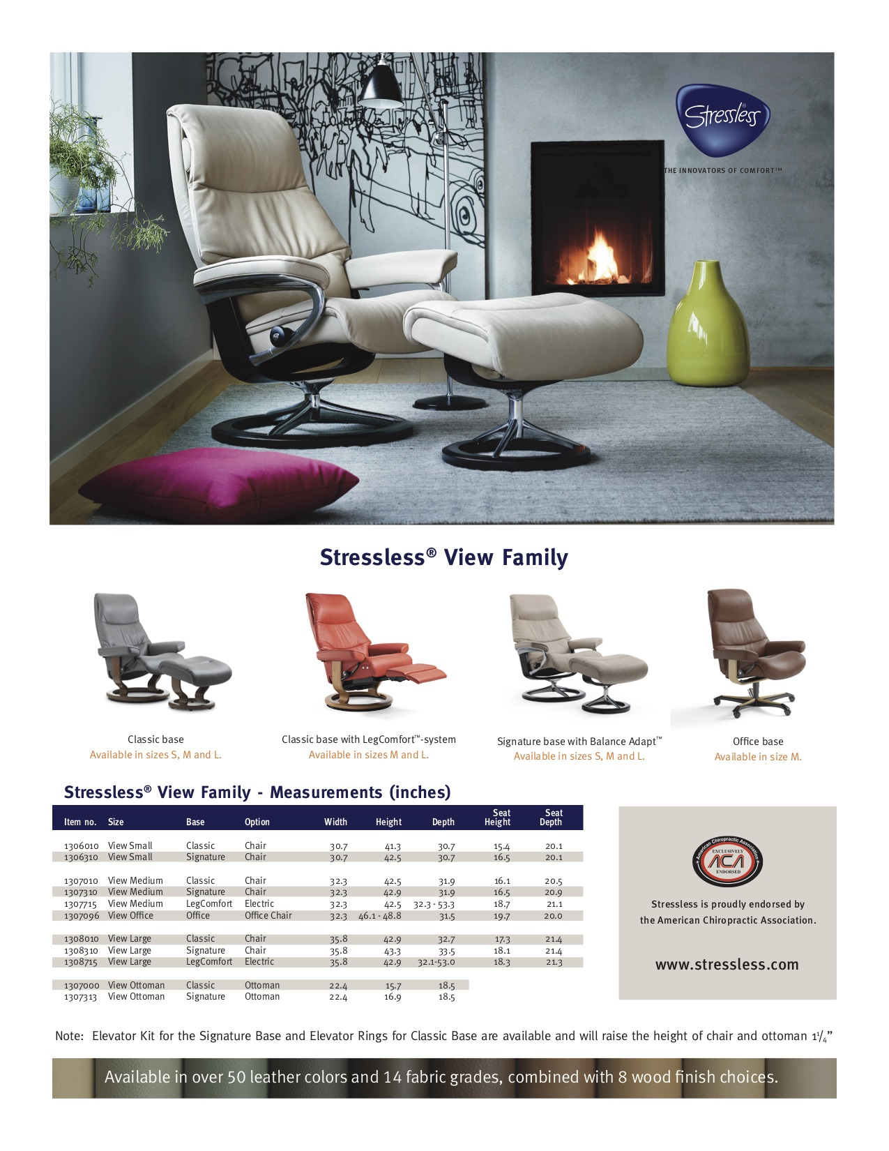 Stressless View Dimensions