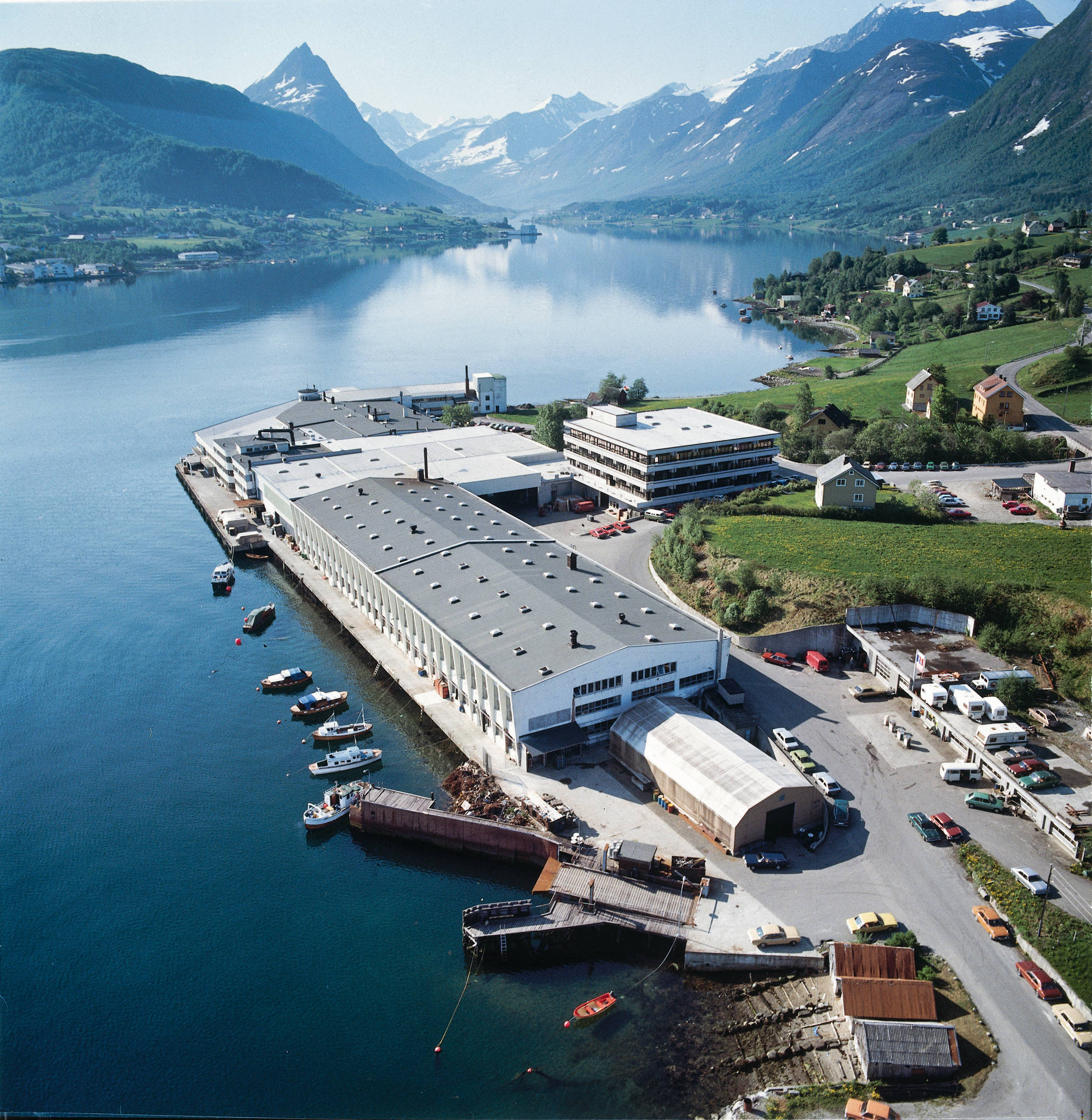 Ekornes Factory in Norway on a Fjord