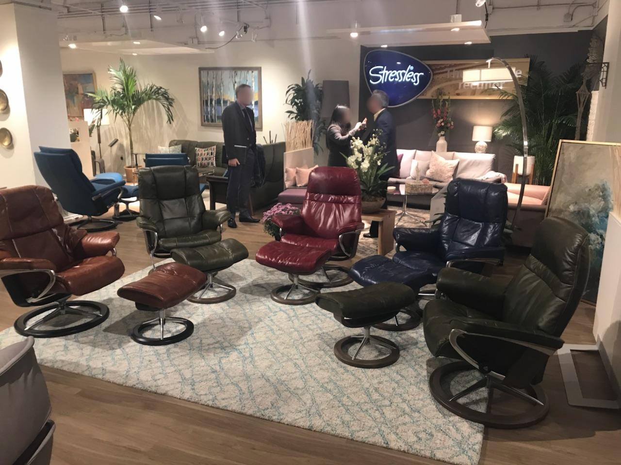New Leathers From Stressless: Pioneer Brown, Green, Red, Blue, and Olive Brown