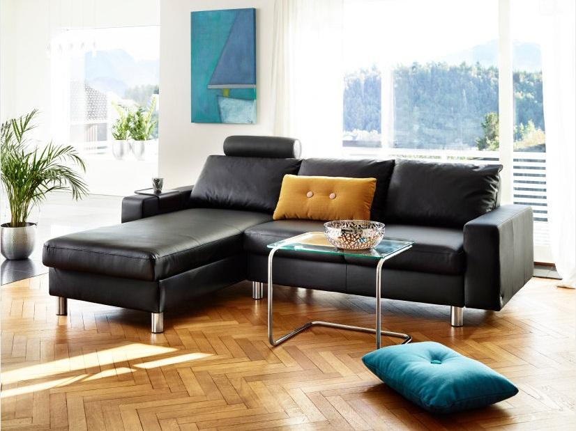 Stressless E200 Sofa featured in Black Paloma Leather