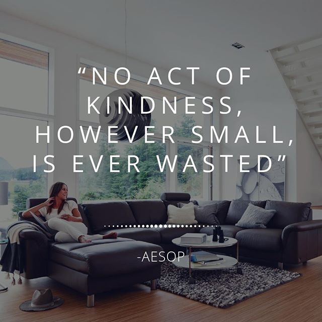 """""""No act of Kindness, However small, is ever wasted""""- Aesop⠀ #MondayMotivation"""
