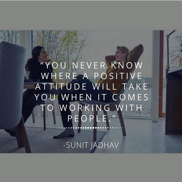"""""""You never know where a positive attitude will take you when it comes to working with people."""" -Matthew Oleniuk⠀ #MondayMotivation #DesignerHomeComfort #People"""
