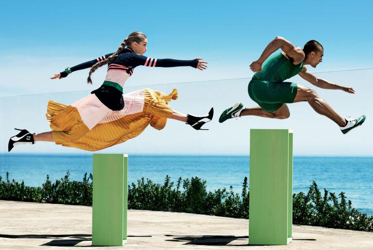 Gigi Hadid and Ashton Eaton, Vogue 2016.