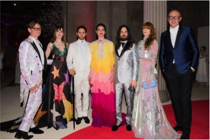 Alessandro Michele and Met Gala 2016 attendees in Gucci