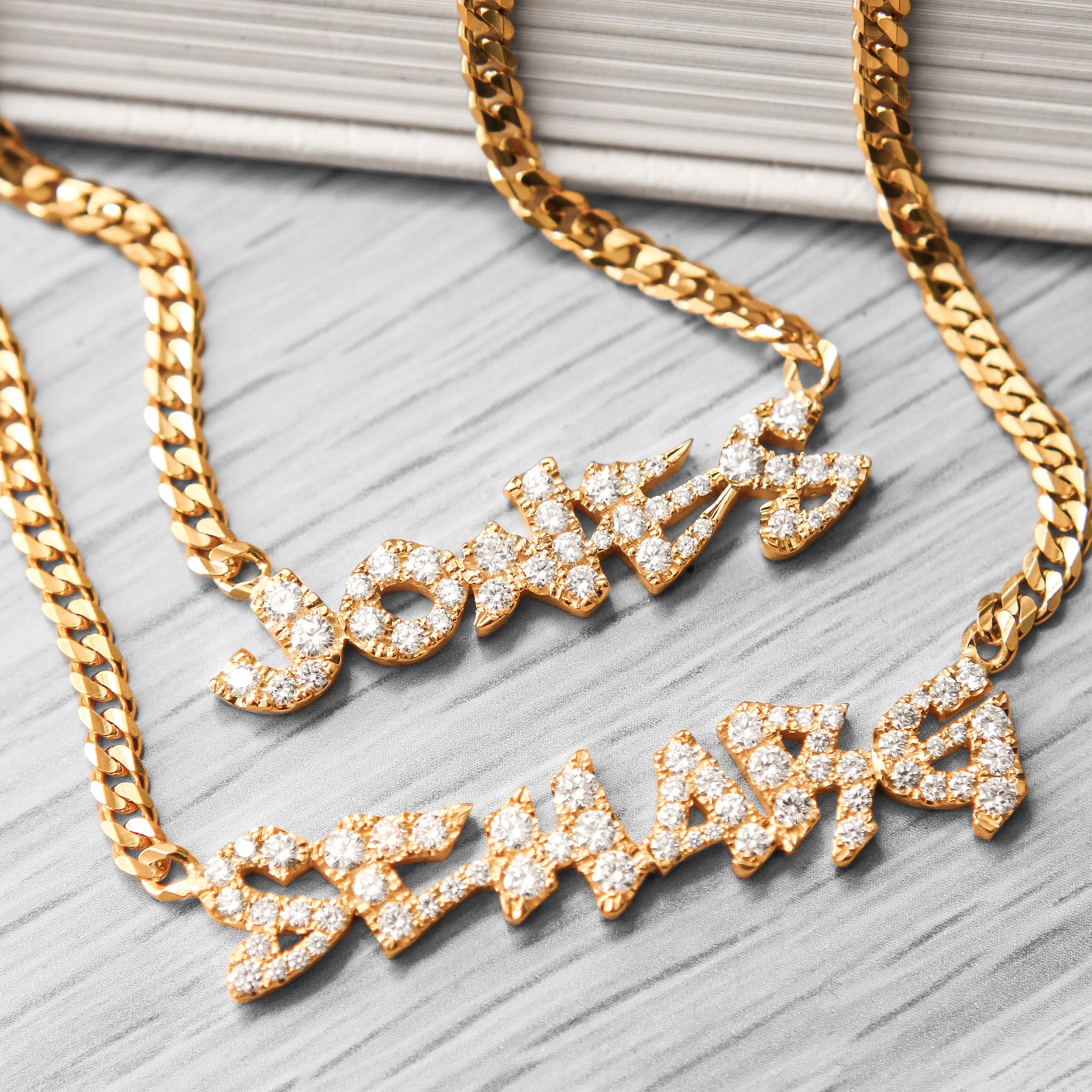 Nameplate Necklace with Diamonds_Shayan Afsharjpg