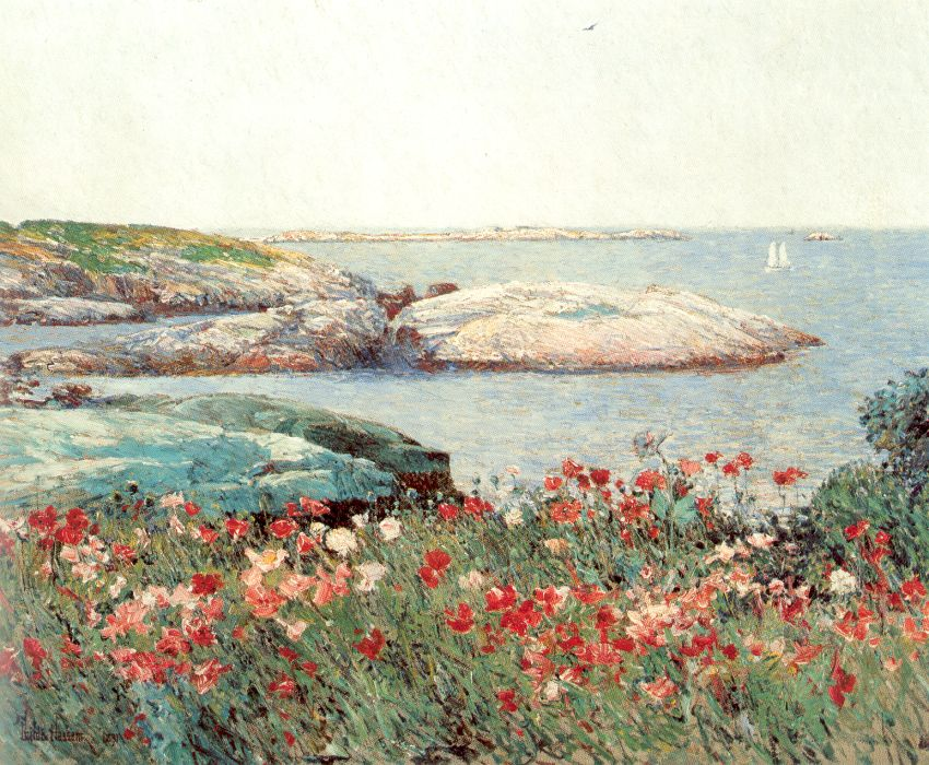 """Poppies, Isle of Shoals""   ~ Childe Hassam, American Impressionist"