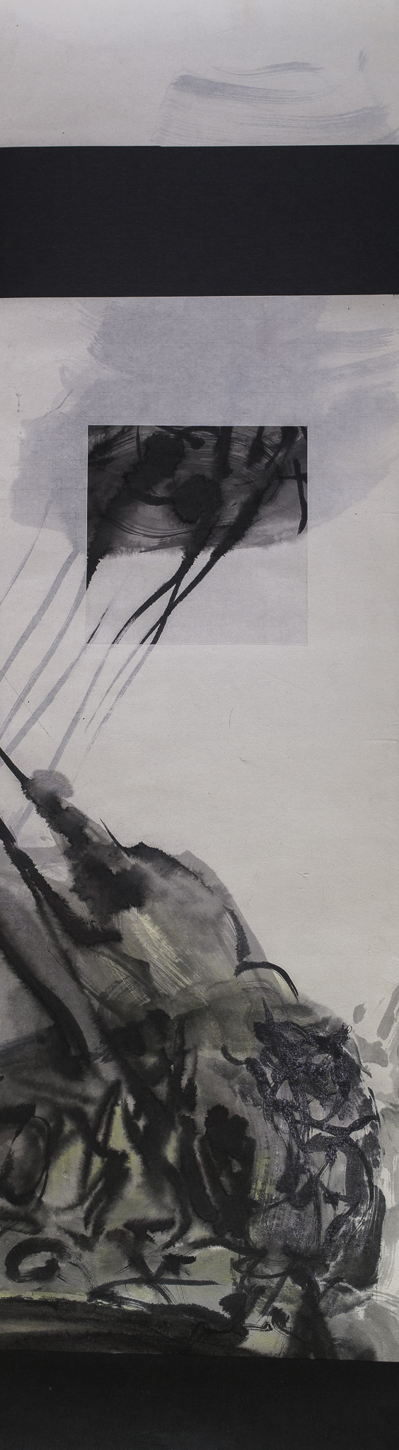 """#15-08 pastel, ink on paper 46""""x13"""" 2015"""