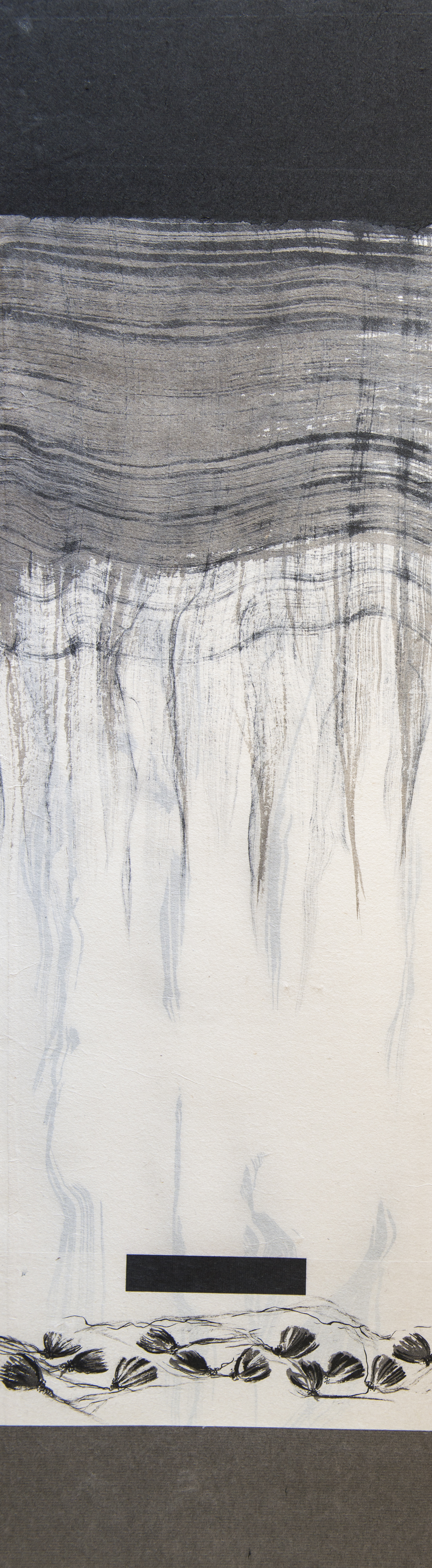 """#15-05 ink on paper 42""""x12"""" 2015 SOLD"""