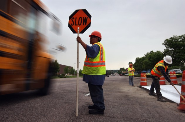 flagger-on-the-road