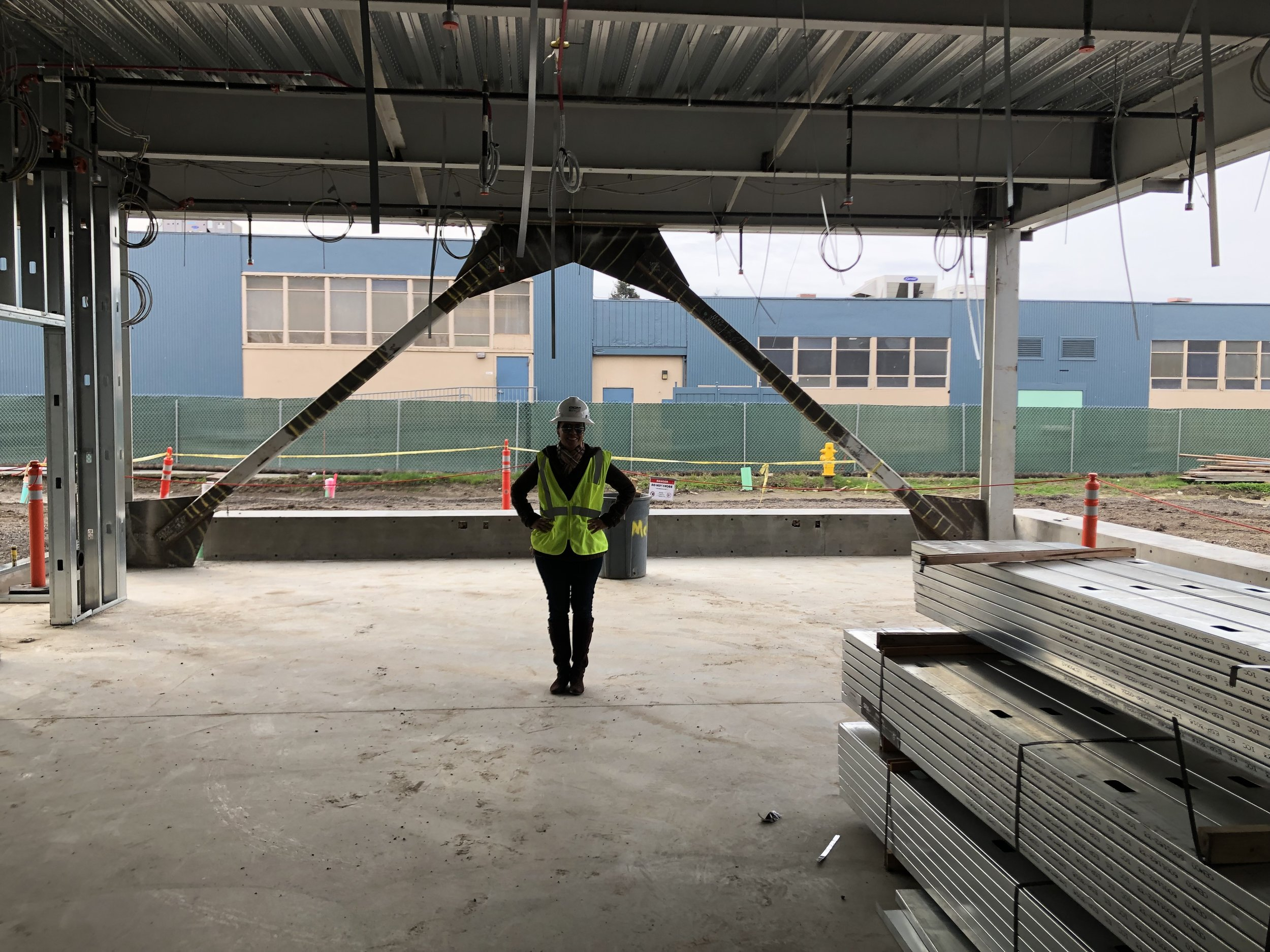 PRINCIPALS TOUR OF FUTURE MIDDLE SCHOOL- March 1, 2019 - See how the construction is progressing.  This photo shows the FLEX Lab, which will a technology Makers Space.