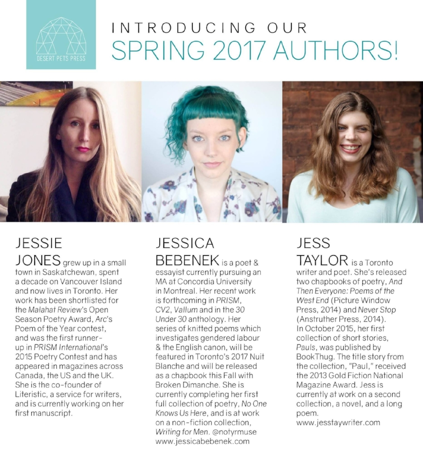 Spring 2017 Authors for Desert Pets Press