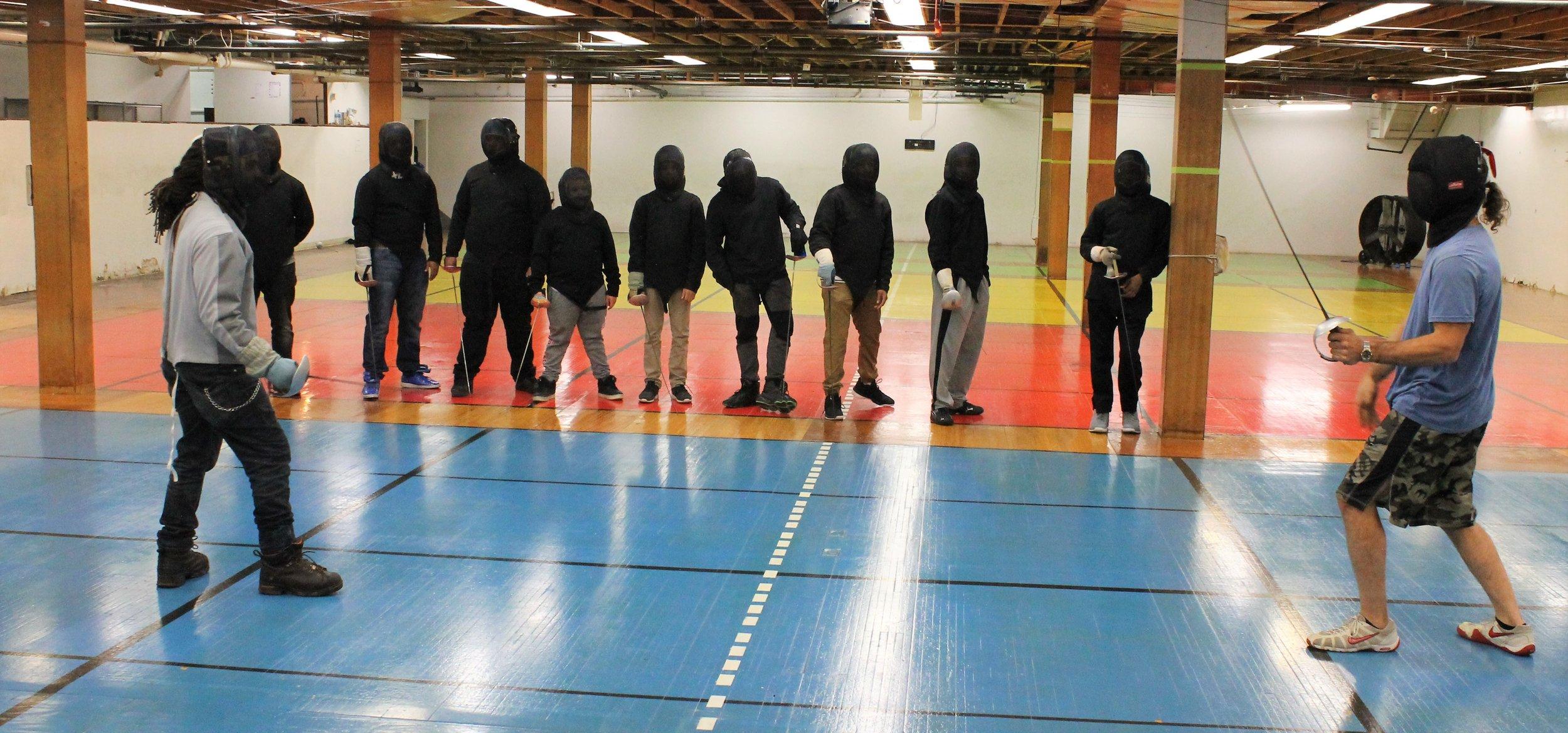 New Lens Urban Mentoring Society with Minnesota Swords Club Fencing #NewLensSociety 07.JPG