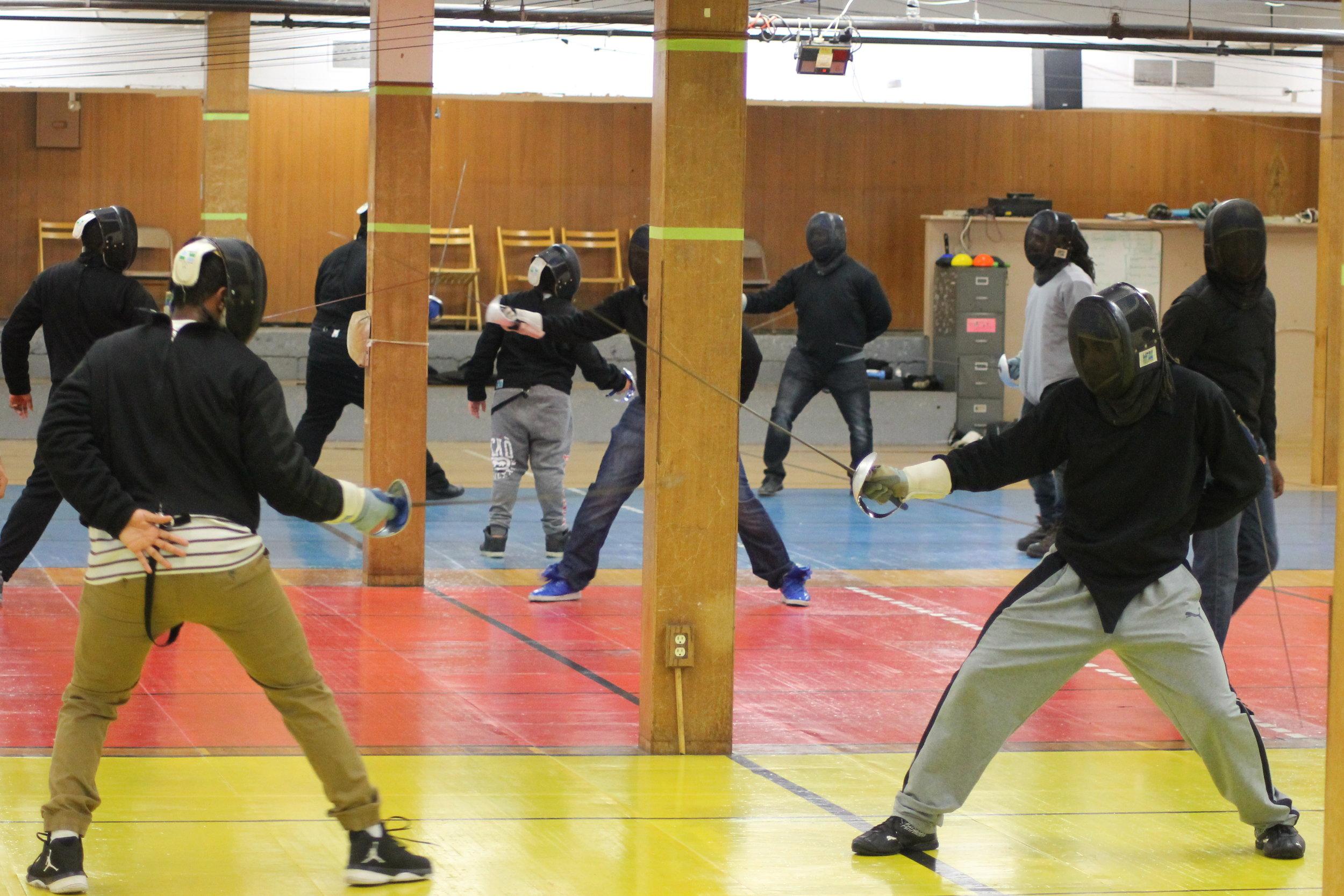 New Lens Urban Mentoring Society with Minnesota Swords Club Fencing #NewLensSociety 15.JPG