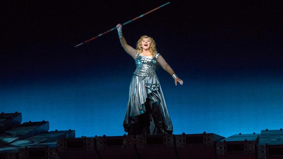 Christine as Brunnhilde in Wagner's  Der Ring des Nibelungen  at the MET.