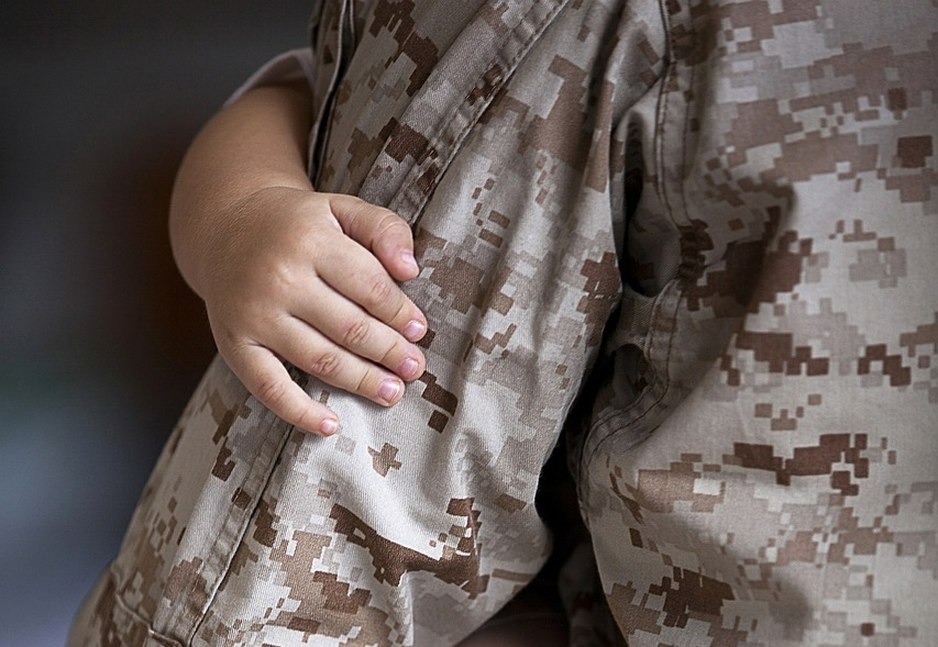 Military fathers sacrificing more as gender roles change