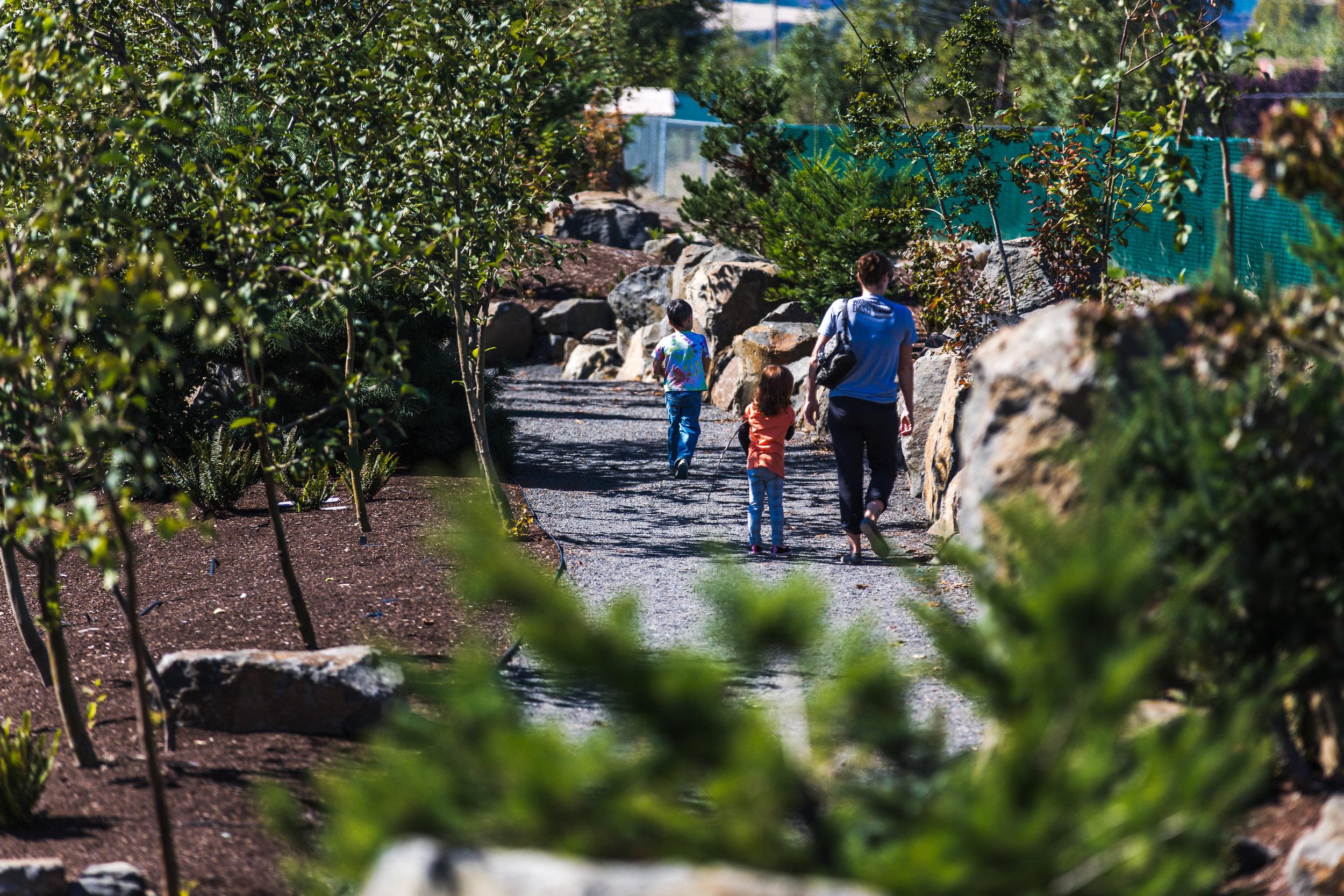 Visitors walk the trails 2015