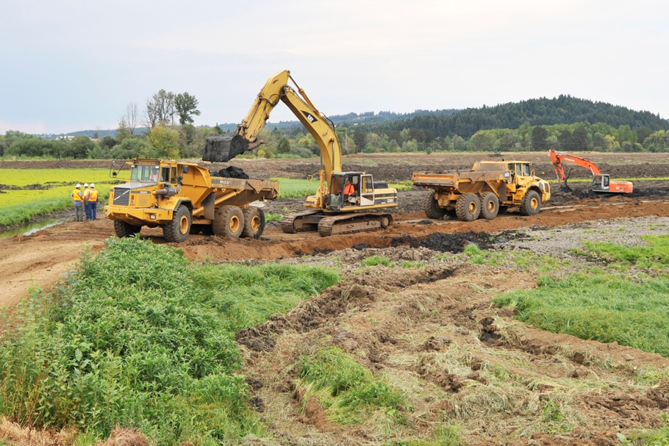 Construction of the Wetlands